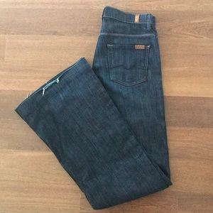 7 For All Mankind Wide Legged Flare Jeans